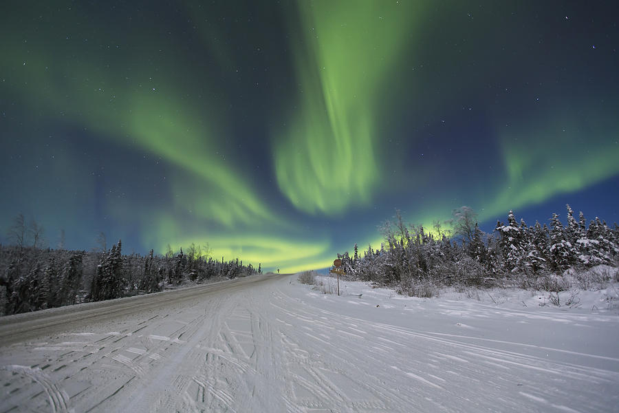 Arctic Photograph - Northern Lights Dancing Over The James by Lucas Payne