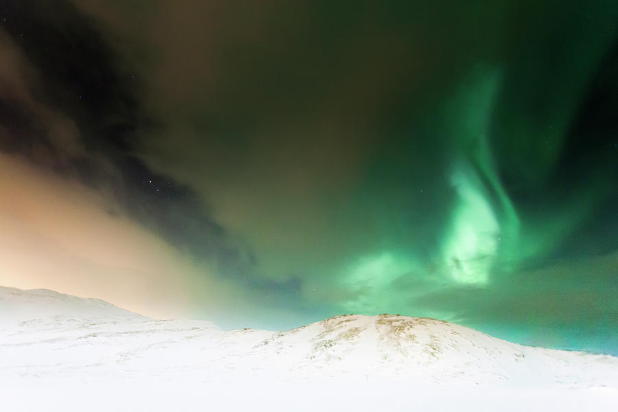 Northern Lights In Tromso Photograph by Ian Gethings