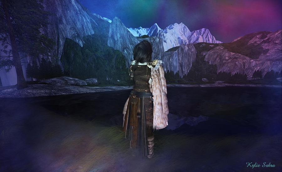 Native American Digital Art - Northern Lights by Kylie Sabra