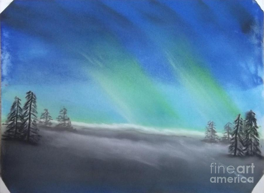 Northern Lights Pastel - Northern Lights by Tracey Williams