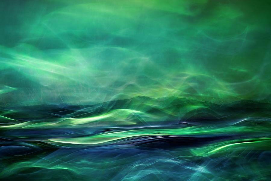 Abstract Photograph - Northern Lights by Willy Marthinussen