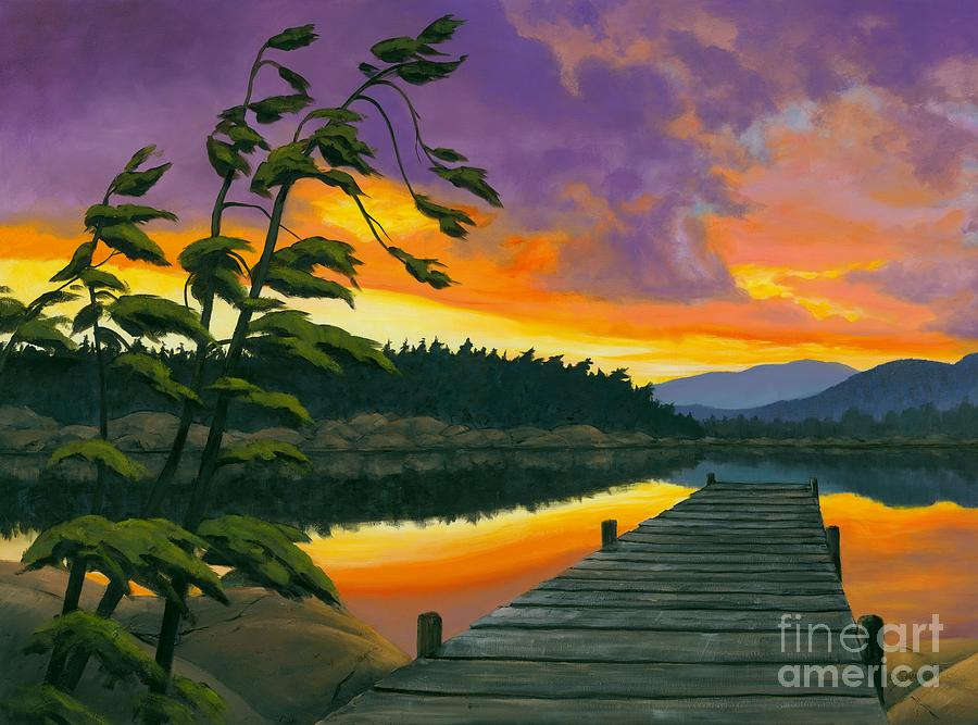 Ontario Painting - After Glow - Oil / Canvas by Michael Swanson