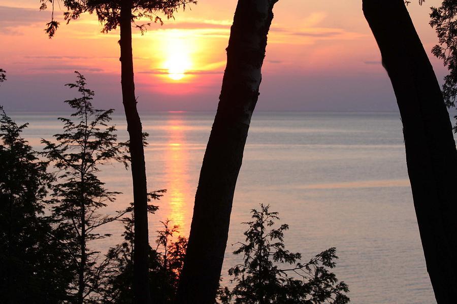 Lake Michigan Photograph - Northern Sunset by Sarah Vandenbusch