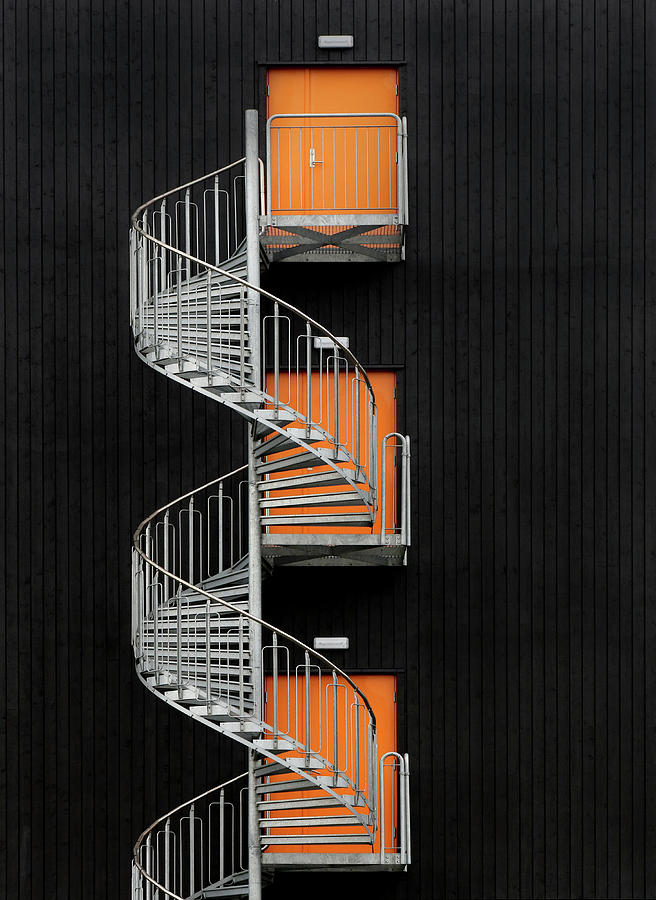 Stairwell Photograph - Northernmost Spiral Staircase by Hans-wolfgang Hawerkamp
