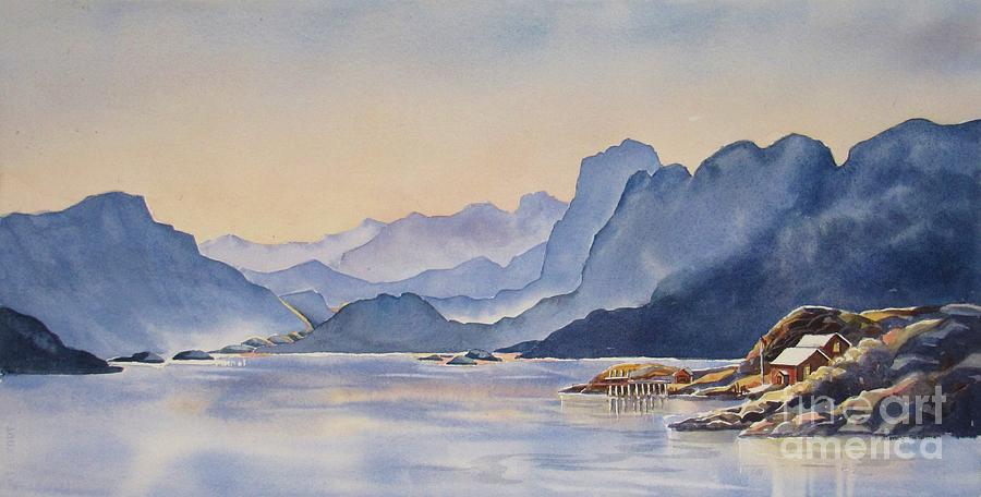 Norway Painting - Northern_norway by Nancy Newman