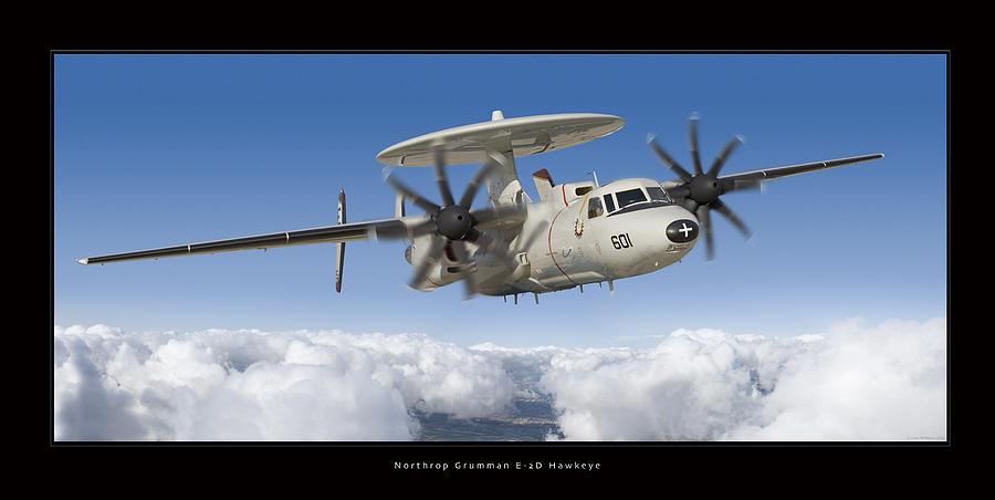 E-2d Hawkeye Framed Prints Photograph - Northrop Grumman E-2d Hawkeye by Larry McManus