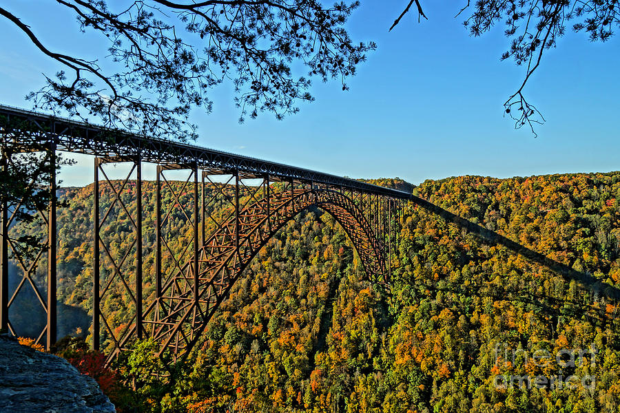 Gorge Photograph - Northwest View Of Gorge Bridge by Timothy Connard