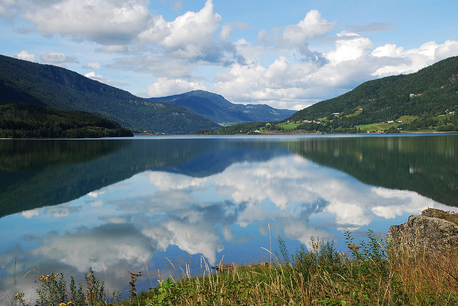 Norwegian Fjord Reflections by Ankya Klay