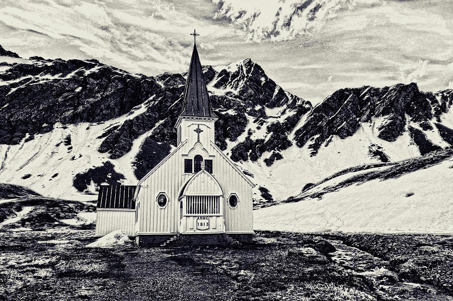 Church Photograph - Norwegian Lutheran Church Grytviken by Amanda Stadther