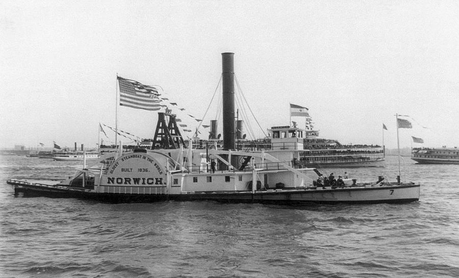 1836 Photograph - Norwich Steamboat, C1909 by Granger
