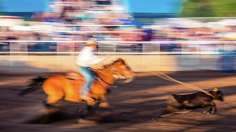 Horizontal Photograph - Norwood Colorado - Cowboys Ride by Panoramic Images
