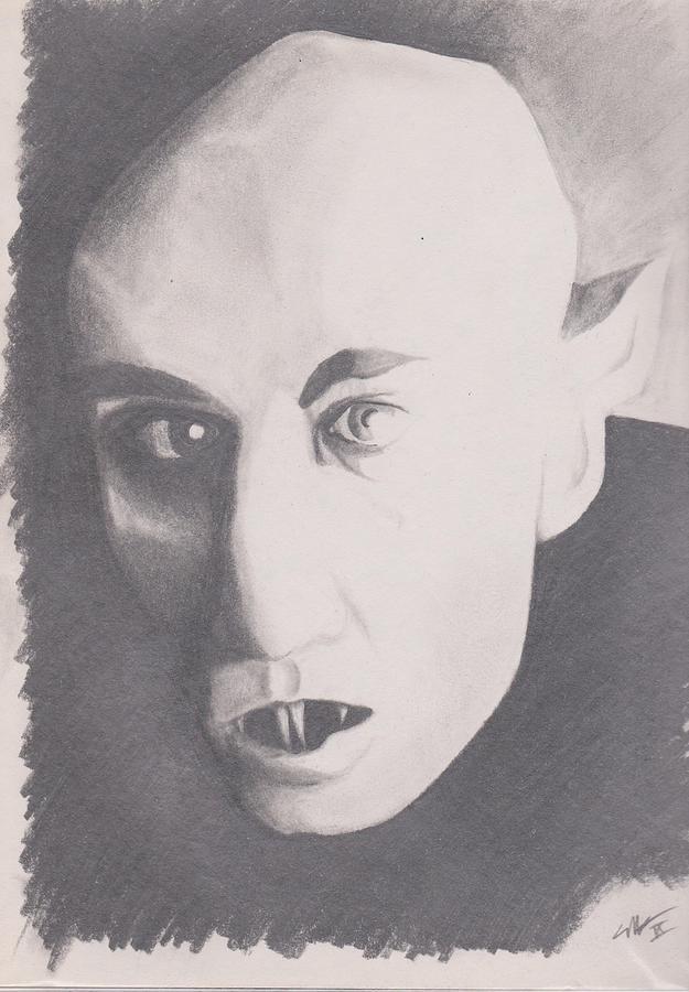 Nosferatu Drawing by Crosson Nipper