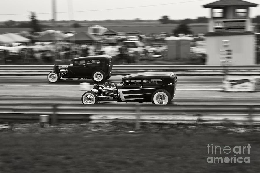 Nostalgia Drag Racing Photograph - Nostalgia Drag Racing by Dennis Hedberg