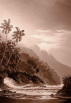 Sepia Painting - Nostalgic Cove by Trey Surtees
