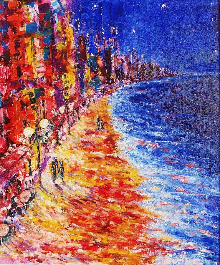 Impasto Painting - Nostalgic Night by Helen Kagan