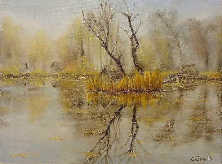Landscape Painting - Nostalgic by Svetla Dimitrova