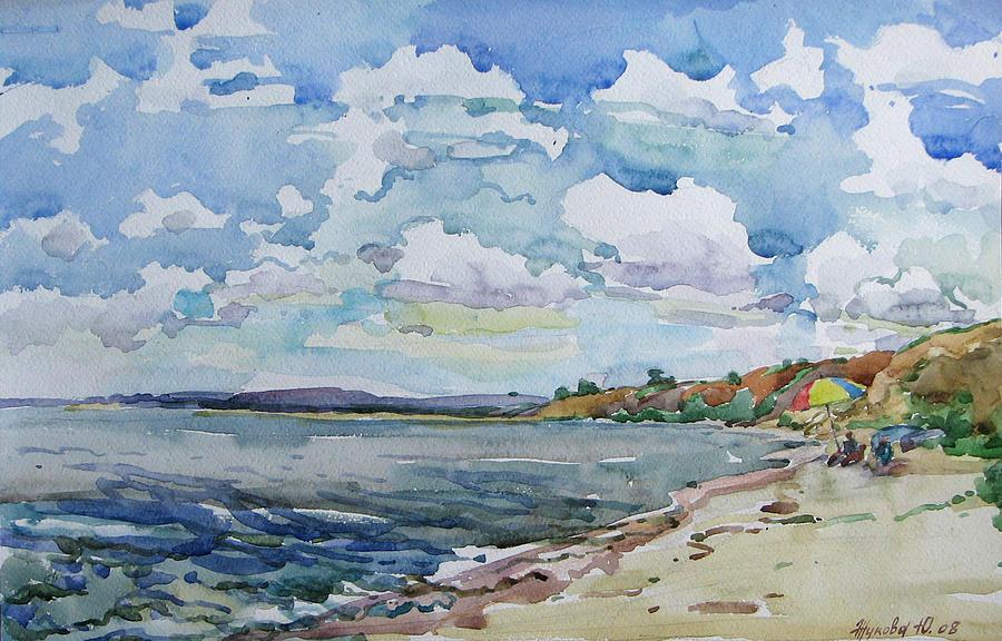 Not A Season A Deserted Beach Painting By Juliya Zhukova