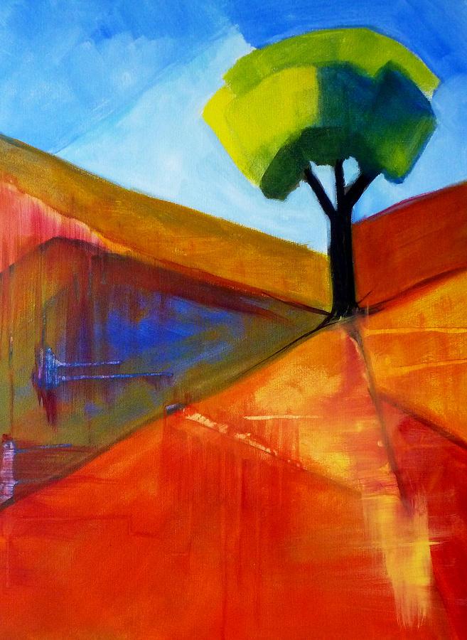 Oregon Painting - Not Alone by Nancy Merkle