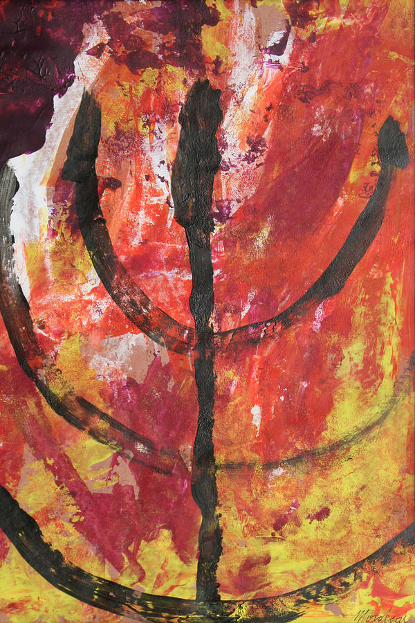 Judaica Painting - Not Consumed by Mordecai Colodner