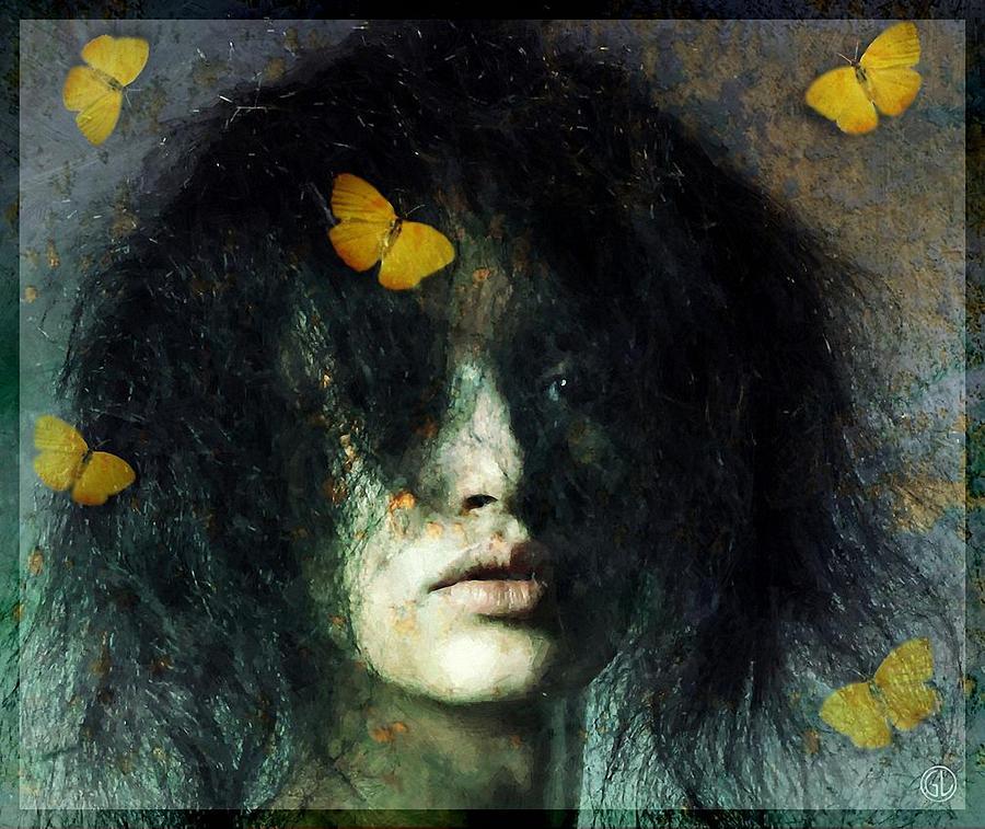 Woman Digital Art - Not Even Butterflies... by Gun Legler