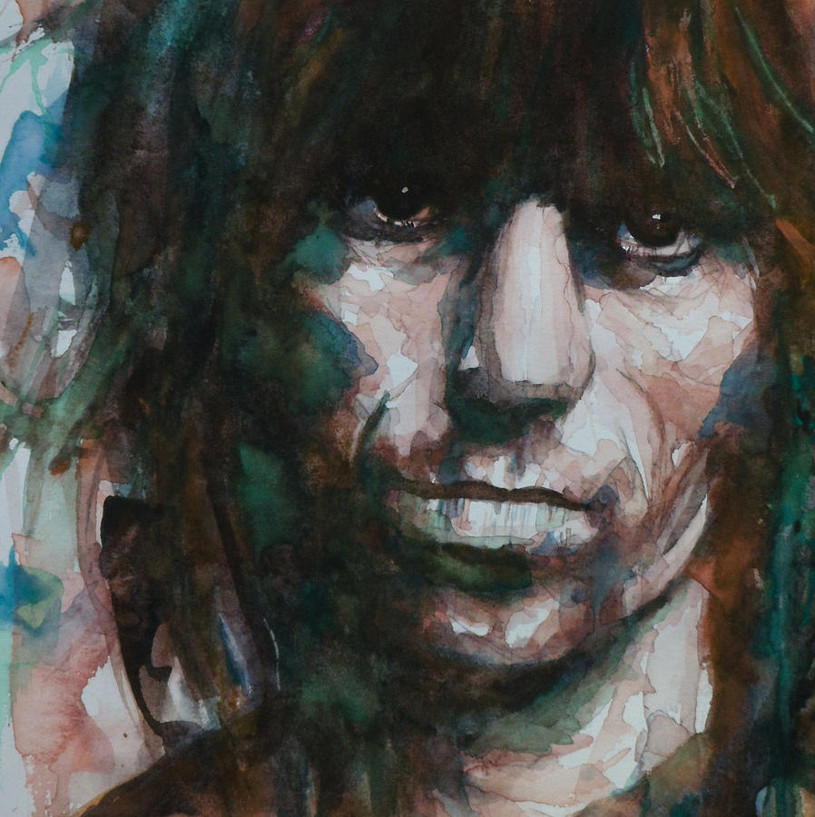 Keith Richards Painting - Not Fade Away by Paul Lovering