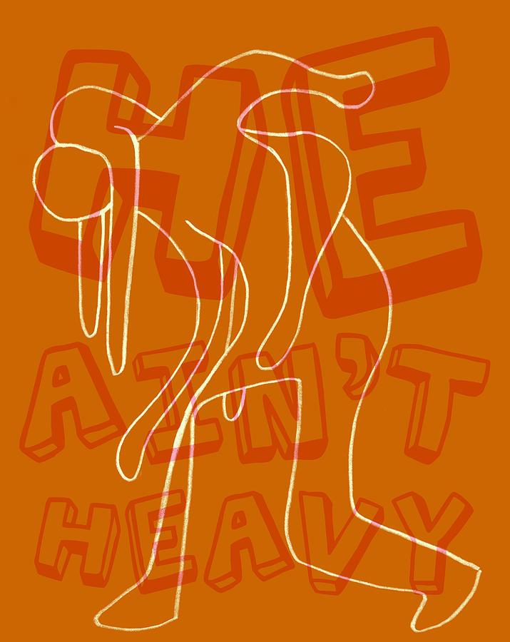 Not Heavy Digital Art by Michelle Calkins