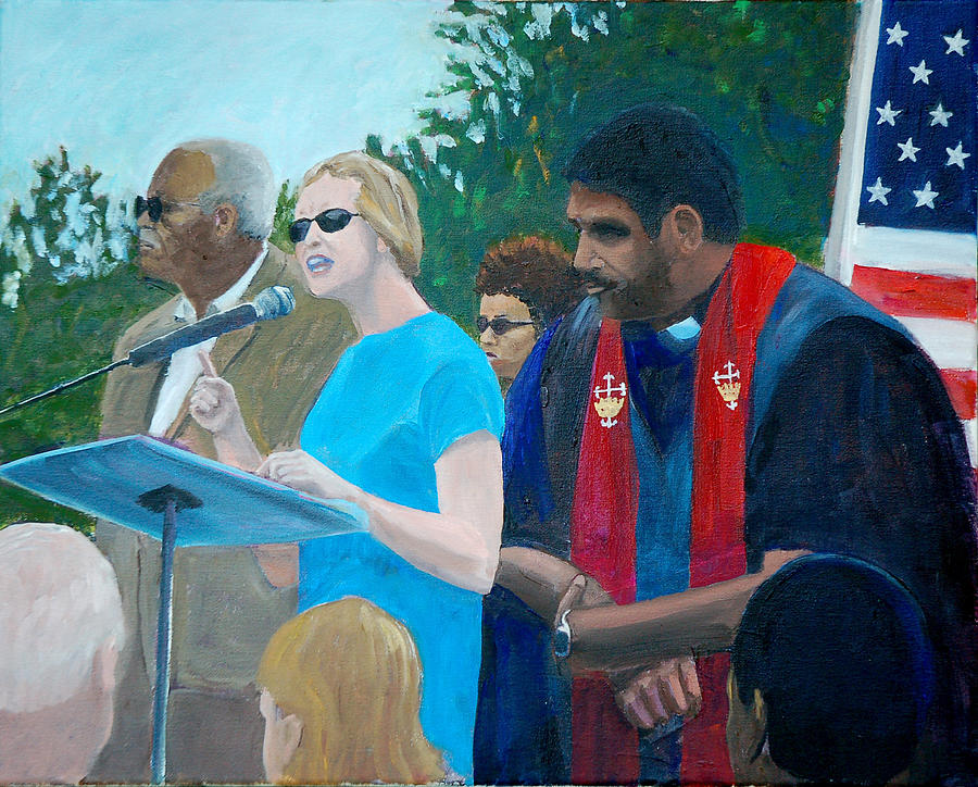 Moral Mondays Painting - Not One Step Back by David Carson Taylor