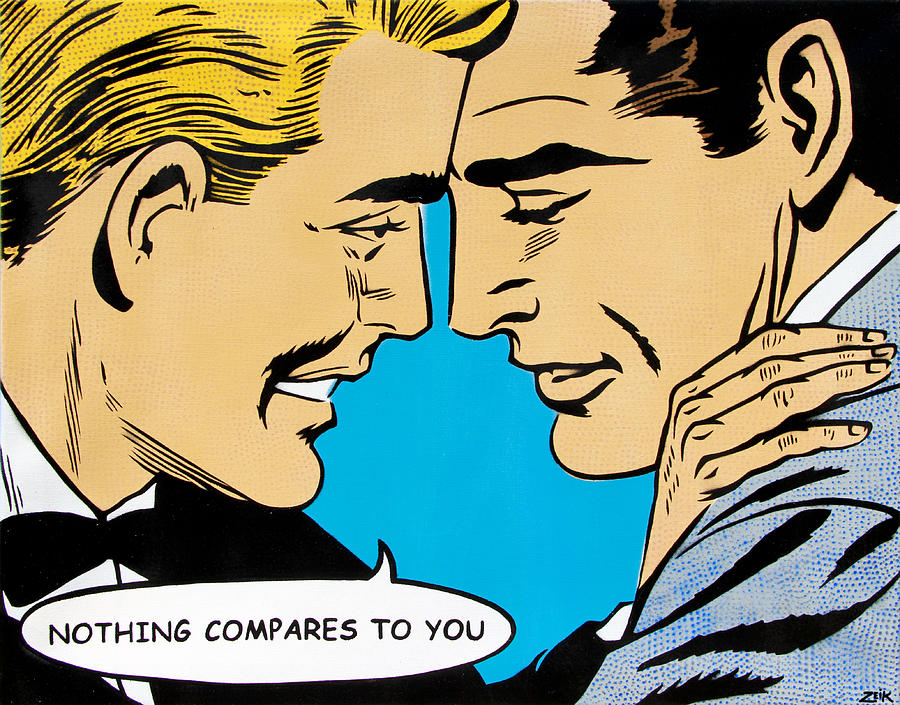 Pop Art Painting - Nothing Compares To You by Bobby Zeik