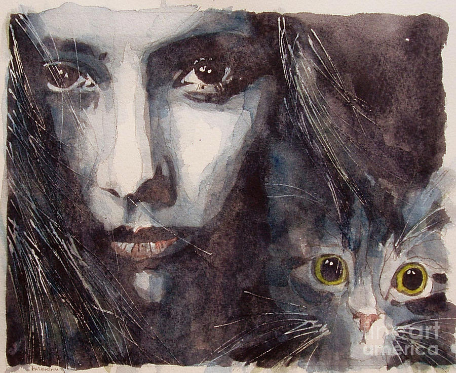 Cat Painting - Nothing Compares To You  by Paul Lovering