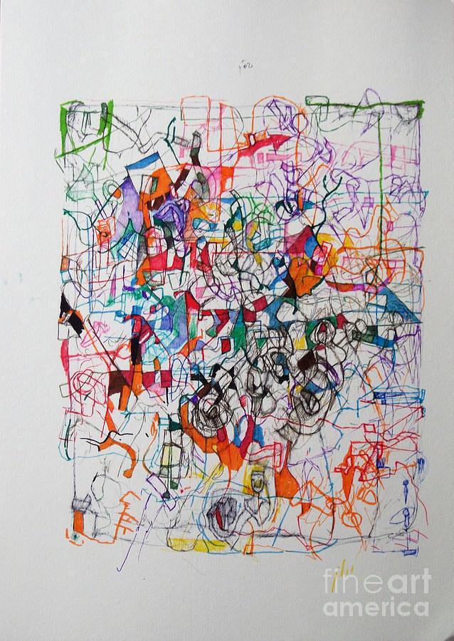 Torah Drawing - Nothing Left But Prayer by David Baruch Wolk