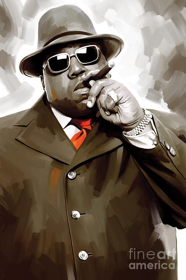 Notorious Big Paintings Painting - Notorious Big - Biggie Smalls Artwork 3 by Sheraz A