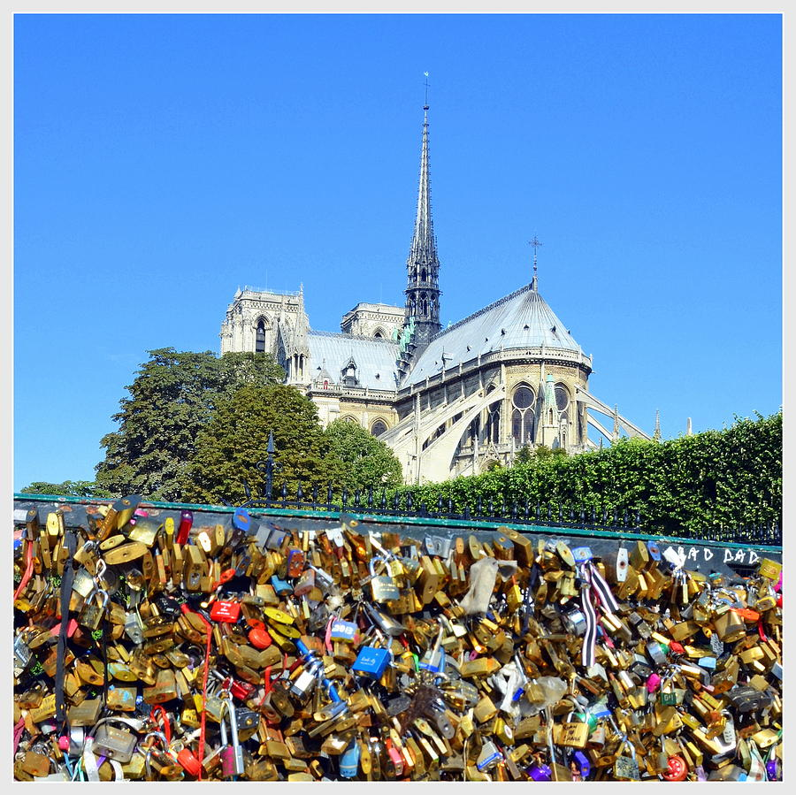 Notre Dame and Locks of Love by Carla Parris