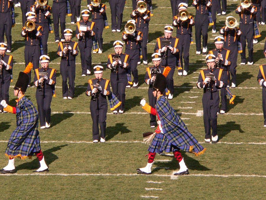 University Of Notre Dame Photograph - Notre Dame Band by David Bearden