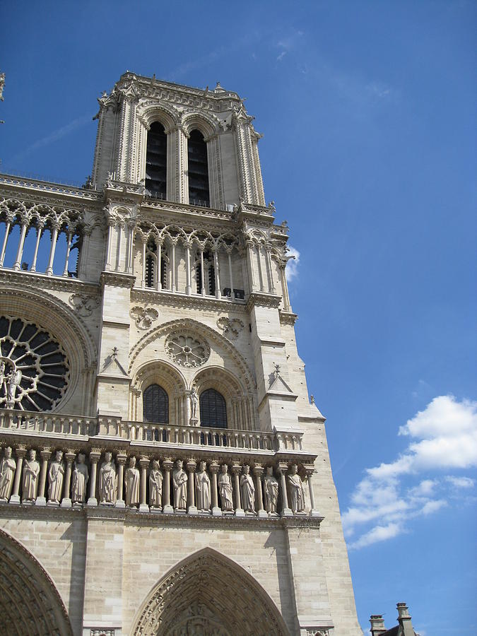 Notre Dame Photograph - Notre Dame Cathedral Paris Tower by Stephanie Hunter