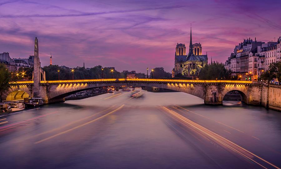 Notre-Dame de Paris at Blue Hour Photograph by Jean Surprenant