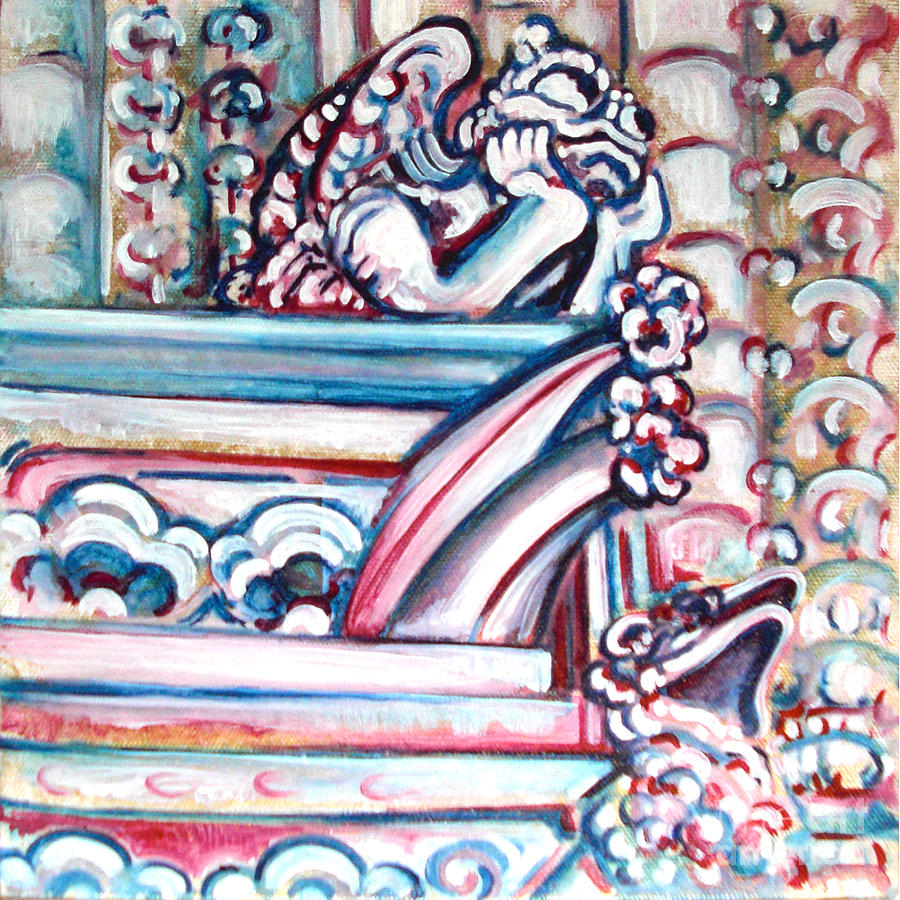 Gargoyle Painting - Notre Dame Gargoyle by Bonnie Sprung