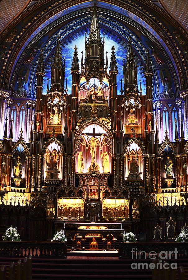 Notre Dame Interior Photograph - Notre Dame Interior by John Rizzuto