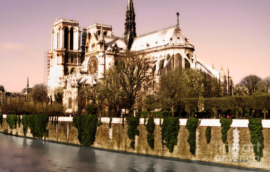 Architecture Photograph - Notre Dame On The Seine by Linda  Parker