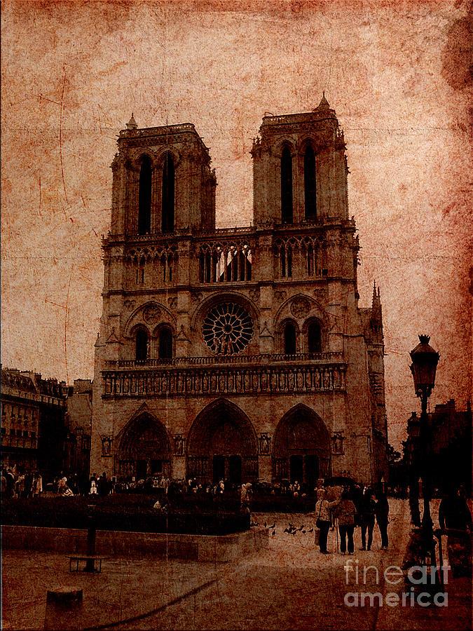 Notre Dame Digital Art - Notre Dame - Paris by Soumya Bouchachi