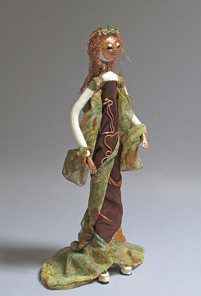Art Doll Sculpture - Nouveau by Lynn Wartski