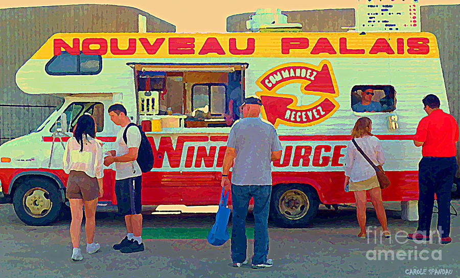 Nouveau Palais Food Trucks Paintings Finally Part Of Montreal Art