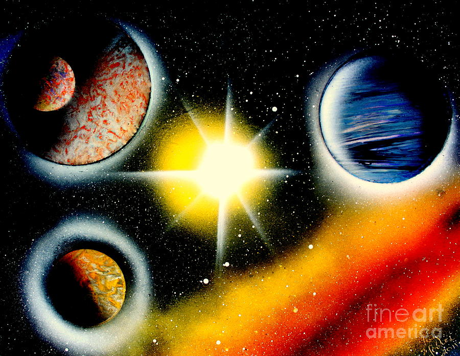 Planets Painting - Nova 4671 E by Greg Moores