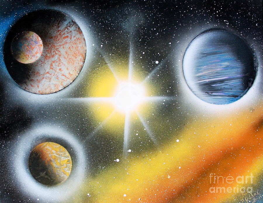 Planets Painting - Nova 4671 by Greg Moores