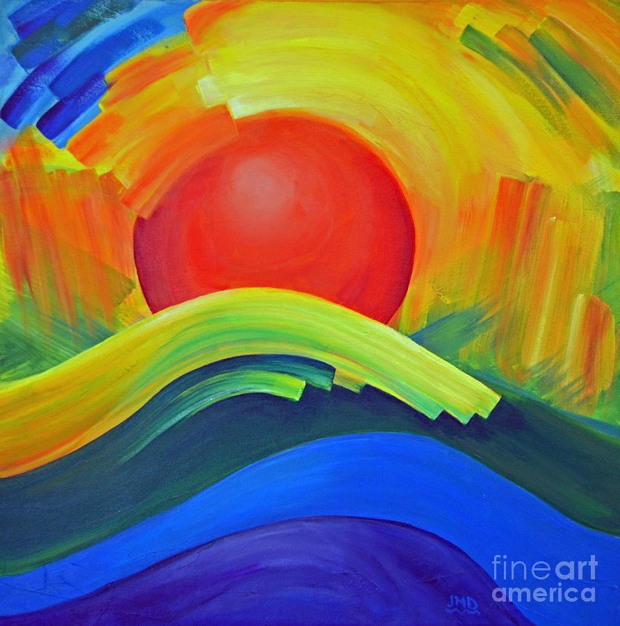 Sheffield Village Painting - Nova In Orange by Janice DeAngelis