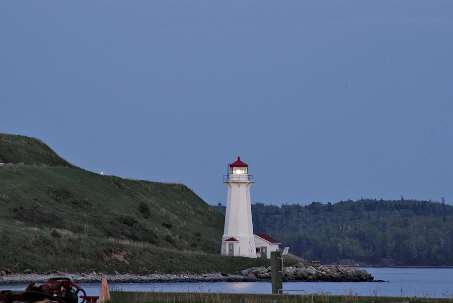 Nova Scotia Photograph - Nova Scotia Lighthouse by Nancy De Flon