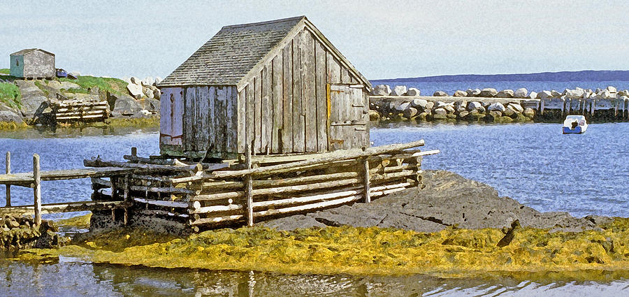 Nova Scotia Photograph - Nova Scotia Shack by John Thorp