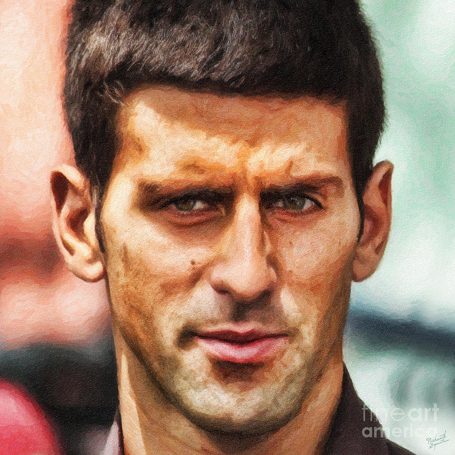 Novak Djokovic Painting - Novak Djokovic by Nishanth Gopinathan