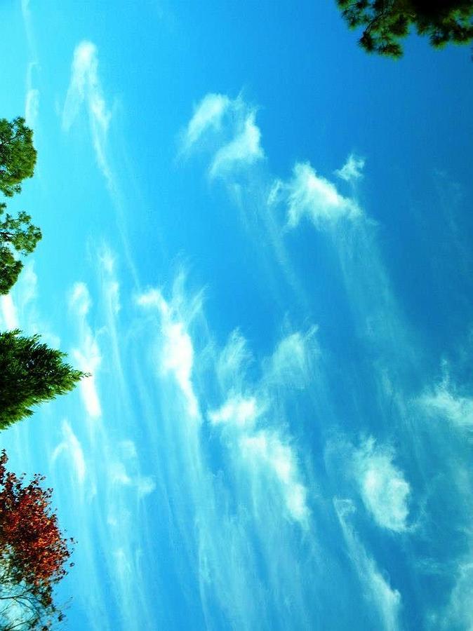 Clouds Digital Art -  Angel Sky Morning Windows From Heaven by Matthew Seufer