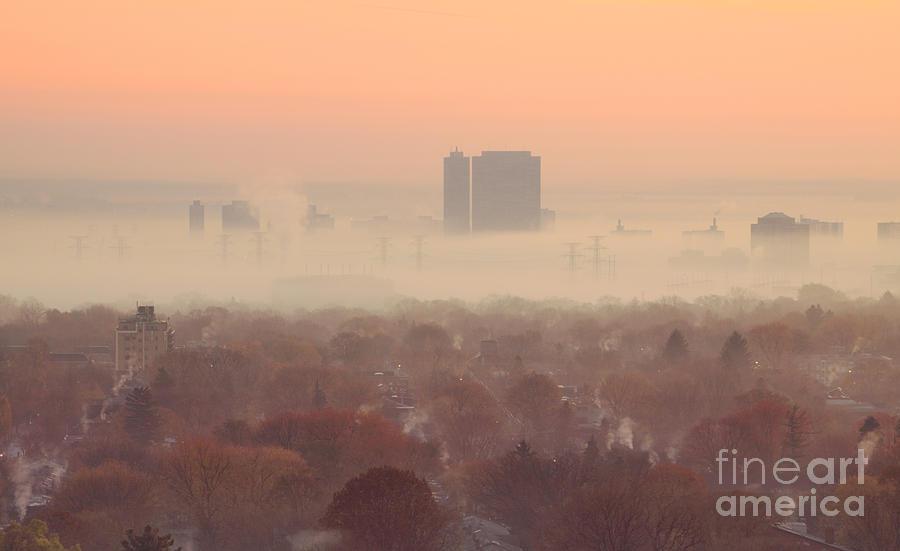 Toronto Photograph - November Morning Fog by Charline Xia