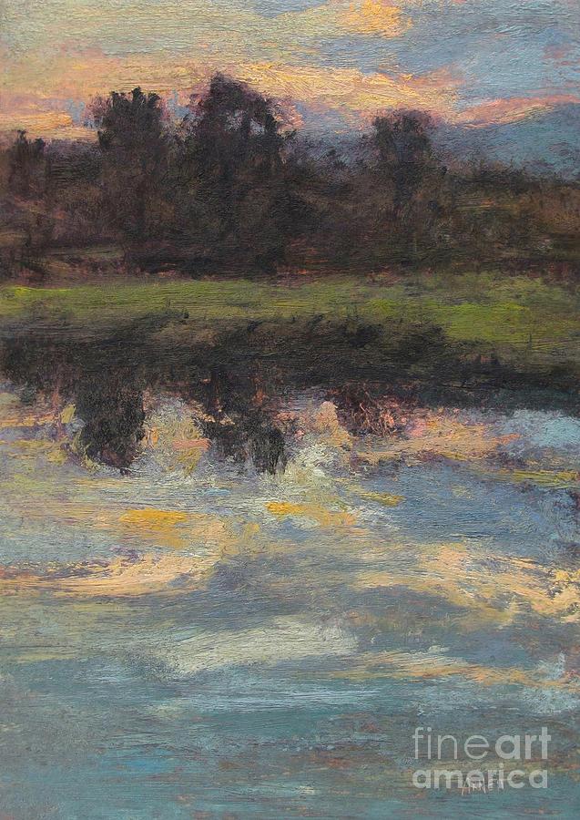 November Painting - November Reflection - Hudson Valley by Gregory Arnett